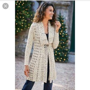 Soft Surroundings Teressa Crochet Cardi XSP (2/4)